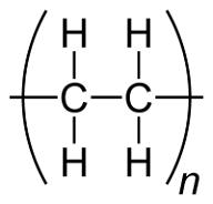 Polyethylene chemical formula.